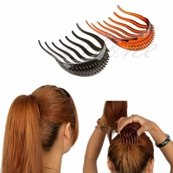 New Useful Volume Inserts Hair Clip Bouffant Bumpits Ponytail Hair Comb Bun Maker NW