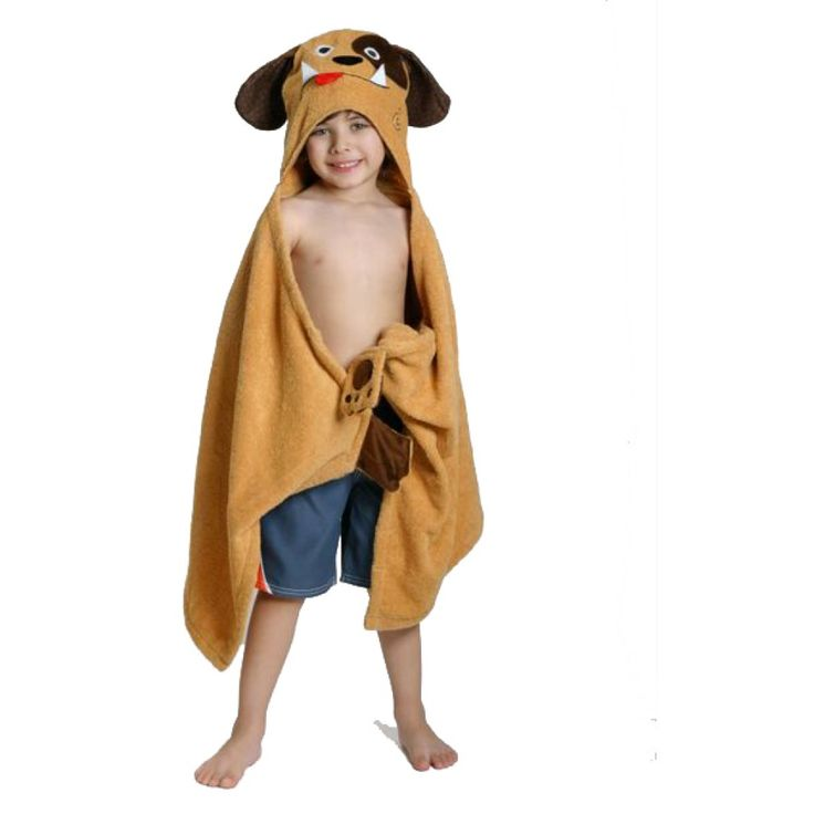 Zoocchini Hooded Dog Towel is the ideal gift for boys age 6 when they go on holiday or for after swimming.