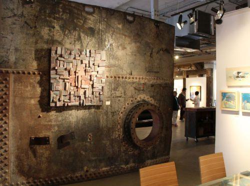 corporate art, wood wall art, contemporary wood art, recycled wood art, corporation art, office art