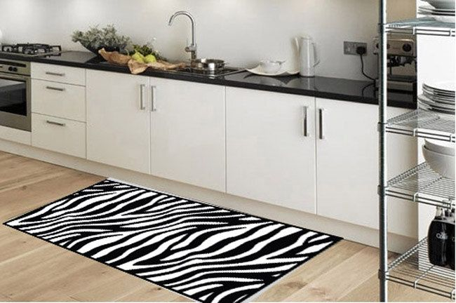 Kitchen rug -non-slip -  model zebra - suitable for kitchen, bathroom, entrance, garden / print rugs / kitchen floor mat / kitchen mat by Printip on Etsy