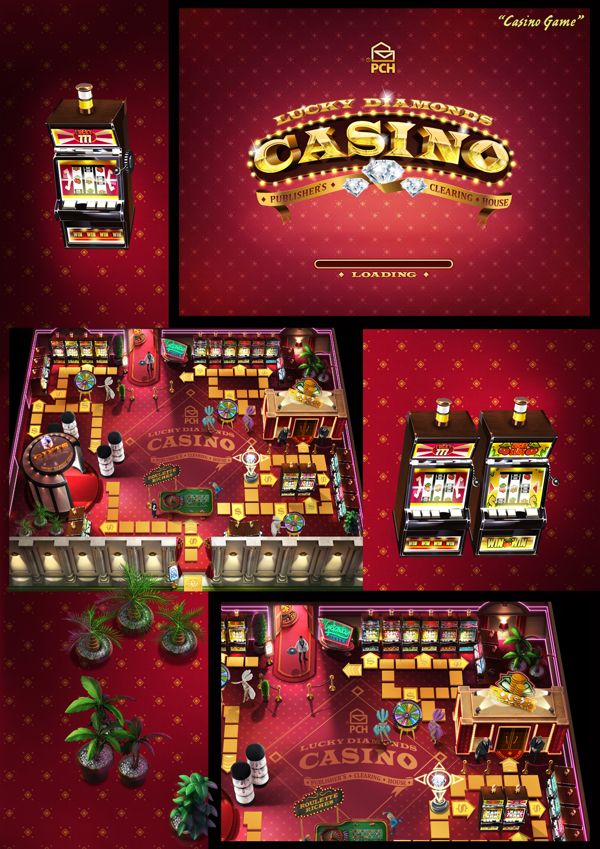 Lucky Diamond Casino by polish farmer, via Behance