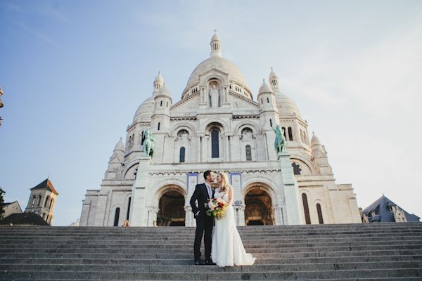 "Getting married in the ""City of Love"" would truly be a fairy tale! #pariswedding #destinationwedding Photos by Ophelia and Romeo Photographers – Katy and Mark"