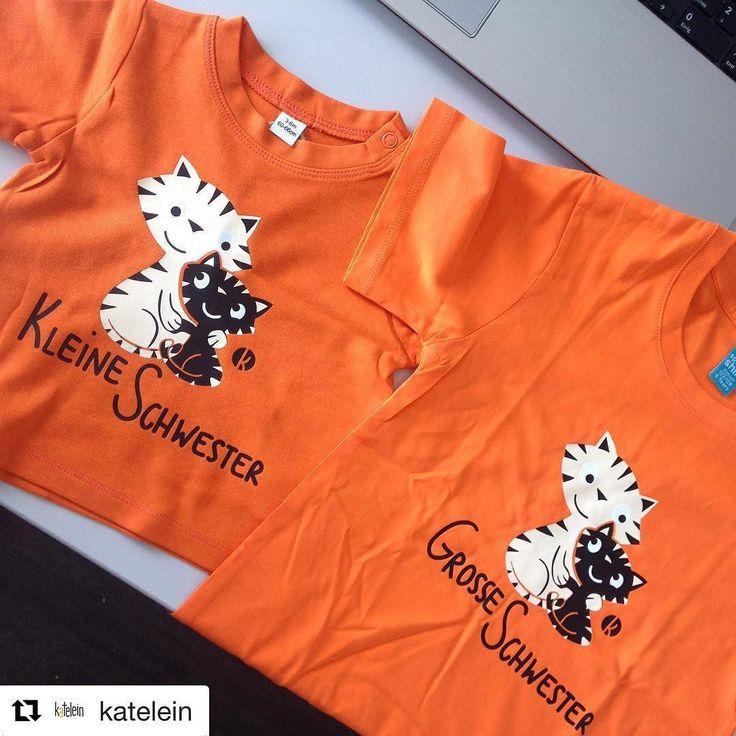 schaut mal was grad per post reinkam - ein neues Geschwister t-Shirt set . ein Geschenk für einen Arbeitskollegen und bald gibt's die auch im Shop #katelein @katelein