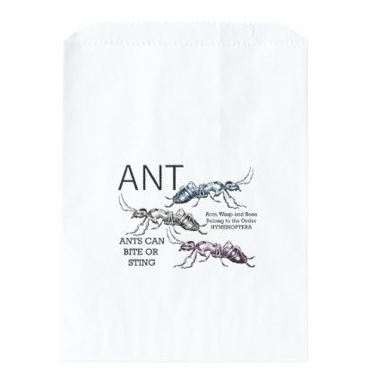 Ants Insect Bugs Favor Bag - animal gift ideas animals and pets diy customize