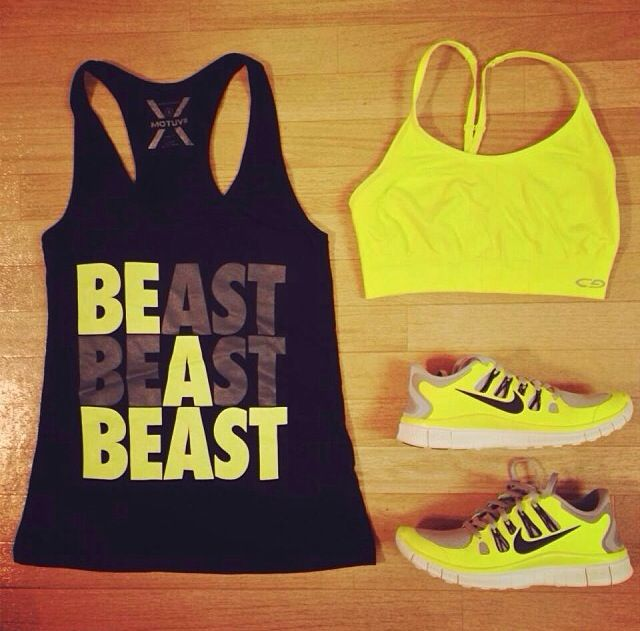 Sporty fashion - totally need this in my workout wardrobe