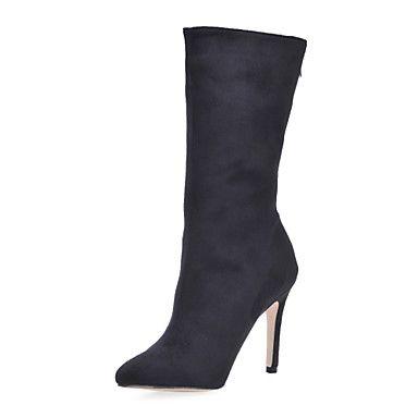 gamuza stiletto talón botas a media pierna con n / a fiesta / zapatos de noche – EUR € 82.49
