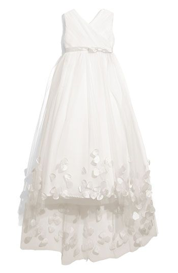 Joan Calabrese for Mon Cheri Tulle & Taffeta Floor Length Dress (Little Girls & Big Girls) | Nordstrom