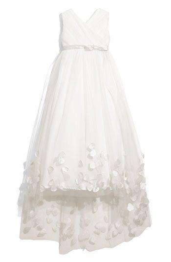 Joan Calabrese for Mon Cheri Tulle & Taffeta Floor Length Dress (Little Girls & Big Girls) | Nordstrom