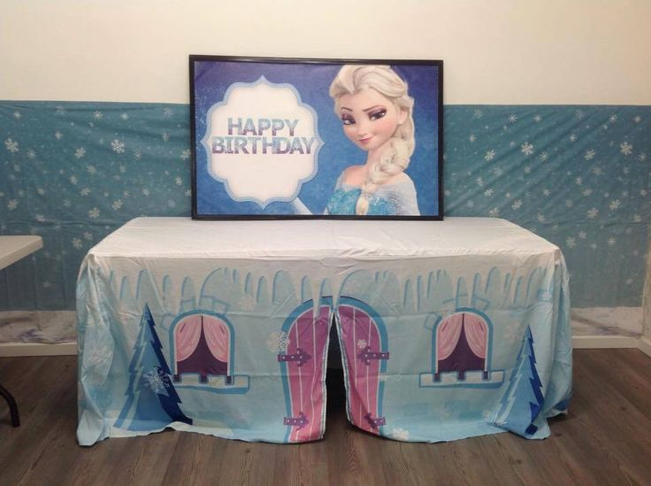 Frozen party. The kids loved it. Happy Birthday. Cubbyhouse or party theme. Fun times for all. www.mycottoncubby.com.au