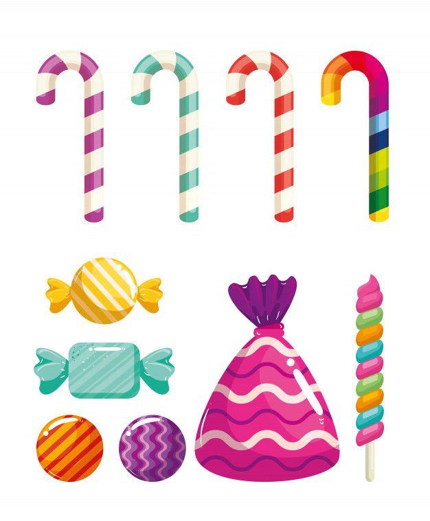 Conjunto De Deliciosos Dulces Dulces Vec Premium Vector Freepik Vector Dibujos Animados Lindo Caramelo Tarjetas De Nina Bebe Caramelos Dibujos Dulces