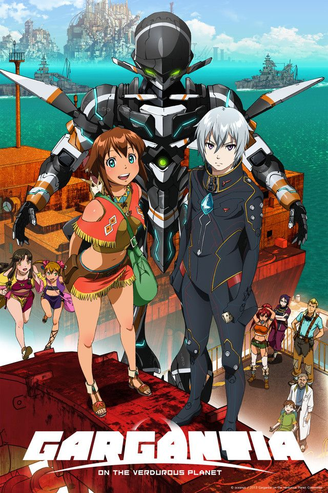 Action, Adventure, Mecha, Sci-Fi Suisei no Gargantia / Gargantia on the Verdurous Planet   I found this to be rather enjoyable, nice art, great voice acting, character development and interesting plot until Urobuchi Gen does his usual thing....sigh but it's still worth watching if you like this kind of show.