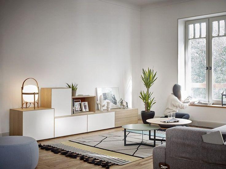 Wooden sideboard with drawers LAUKI | Wooden sideboard - TREKU