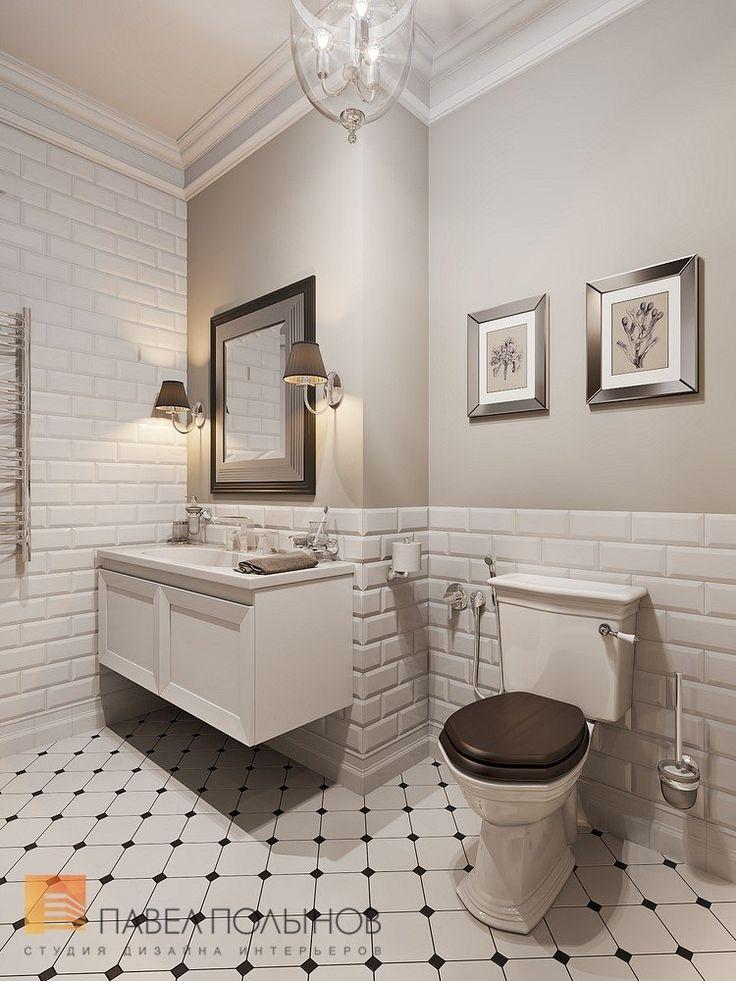 Фото дизайн ванной комнаты из проекта «Интерьер двухкомнатной квартиры в стиле американской неоклассики, ЖК «Парадный квартал», 76 кв.м.»
