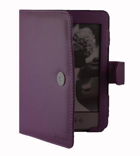 "JKase(TM) Premium Quality Custom Fit Folio Leather Case Cover for Latest Generation 2011 Kindle 4 Wi-Fi 6"" E Ink Display (4th Generation 6"" Kindle Wi-Fi w/o Keyboard) Purple"