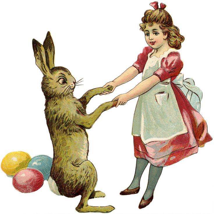 Free Vintage Easter Bunny Images