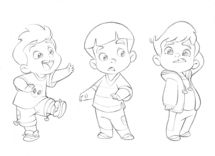 cute little cartoon boy by anderson mahanski the cutest drawings you will ever find by - Cartoon Drawings Of Kids