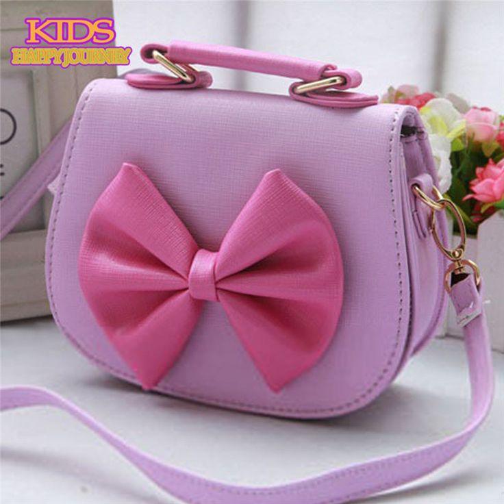 2016 nova Shell do bebê dos miúdos Bow Knot bolsas cores doces princesa Panelled ombro Messenger Bags 0137(China (Mainland))