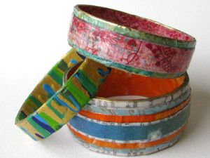 knutselen, papier, diy, recycle, armband van papier, craft, tutorial, paper bangle, bracelet, jewellery, sieraden