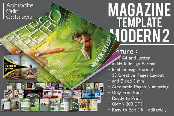 Magazine Template Modern Vol. 2 by Orlin on @creativemarket