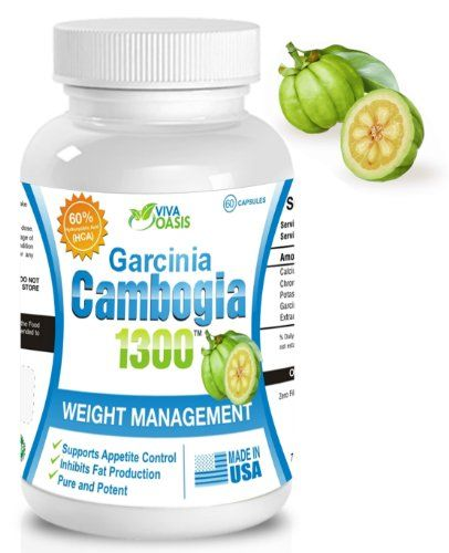 Viva Oasis Pure Garcinia Cambogia Extract with 60% HCA 1000mg of Pure and Potent Garcinia Cambogia Extract. Plus Calcium, Chromium and Potassium. The Extract Formula for Effective All Natural Healthy Weight Loss. Dr Oz Diet Pills.