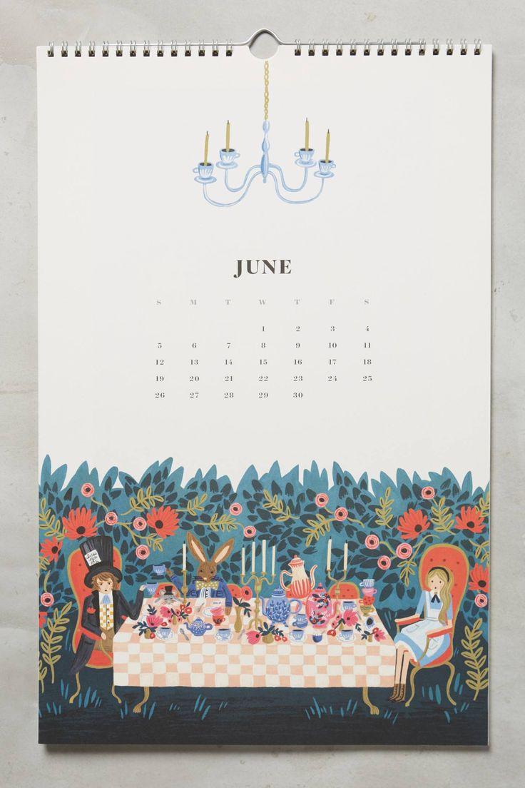 Alice's Adventures In Wonderland 2016 Calendar - anthropologie.com