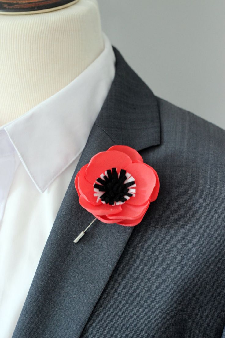 8 Best Anemone Boutonnieres Images On Pinterest Boutonnieres