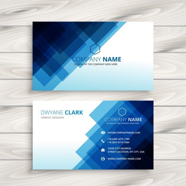 41 best free business card templates images on pinterest business free blue business card templatedesign a business card template wajeb Image collections