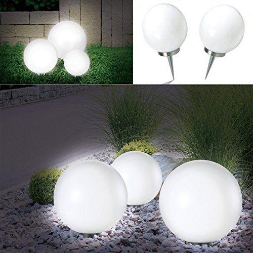 Probache - Lampe Boule 30 cm LED Solaire X2 | Luminaire pour jardin ...
