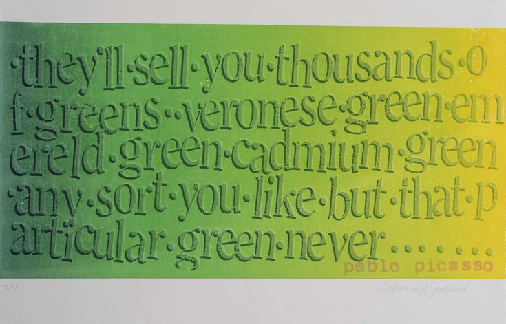 Cathrine Sergeant - Spectrum 'Green'