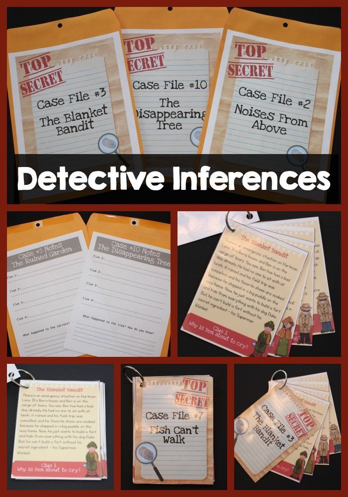 Detective Inferences is the best way to teach inferencing with students!  Watch them actively engage in the drama to infer the top secret cases!
