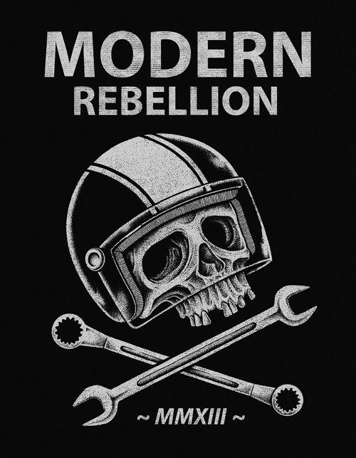 Biker Skull by inkcorf , via Behance