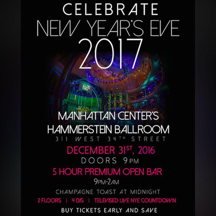 NYE NYC 2017 at Hammerstein Ballroom - http://nyenyc.party/2016/12/01/nye-nyc-2017-at-hammerstein-ballroom/