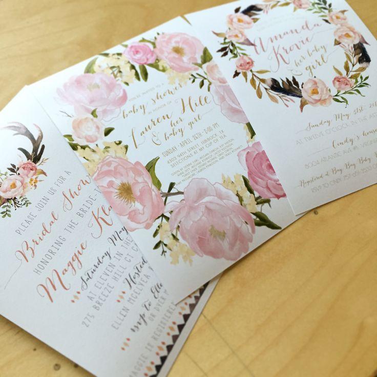 pink black and white bridal shower invitations%0A boho baby shower invitation antler woodland bridal shower invitation find  the invites here  kreynadesigns