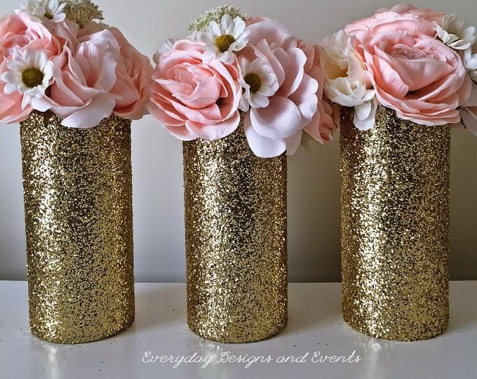 Etsy Your Place To Buy And Sell All Things Handmade Gold Wedding Centerpieces Wedding Vases Gold Centerpieces