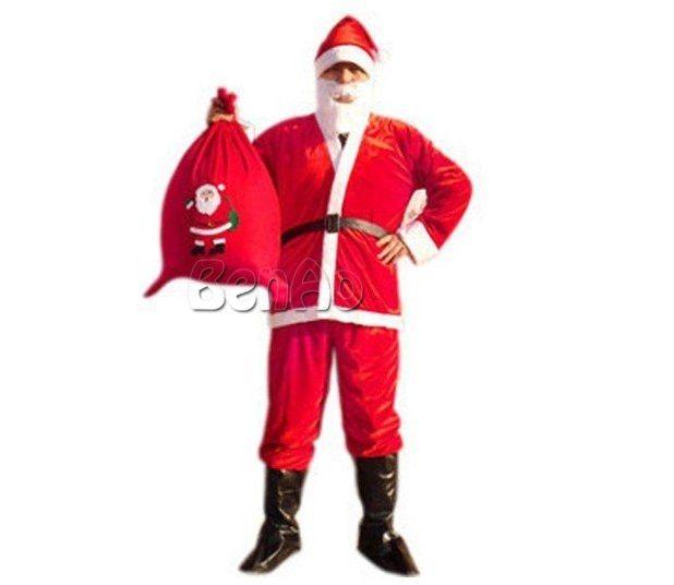 78.00$  Watch here - http://alizap.worldwells.pw/go.php?t=32767045771 - MC008 Een Volledige Set Van Kerst Kostuums Kerstman Voor Volwassenen Blauw Rode Kerst Kleding Kerstman Kostuum Luxe Pak 78.00$