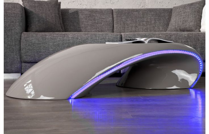Design Couchtisch STARLIGHT LED grau  Exklusiv bei Sofa Dreams  Couchtische -> Table Basse Design Led