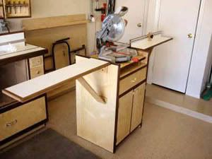 table saw stand with wheels design | 11 Free Miter Saw Stand Plans + 9 Pictorial Idea Guides, 2 Videos, 6 ...