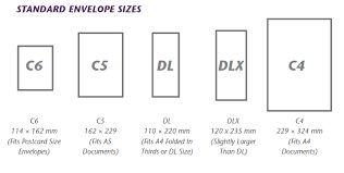 Image result for standard business envelope size