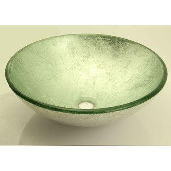 Umywalka nablatowa szklana srebrna 42cm Silver Ceramica Picasa