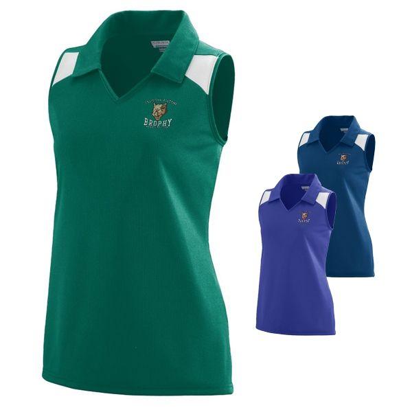 Augusta Sportswear 1230 Ladies' Match Sleeveless Polo Jersey Top   Embroidered Logo Augusta Sportswear Sleeveless Sport Polos