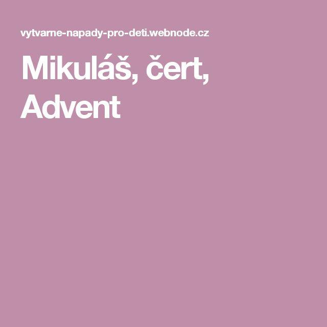 Mikuláš, čert, Advent