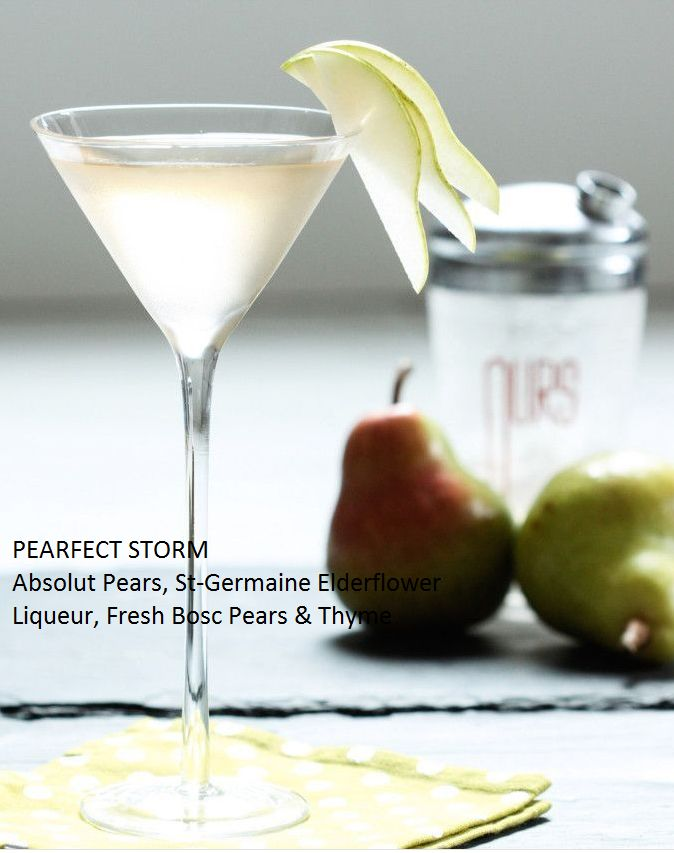 PEARfect Storm Martini. Goes down deliciously smooth. Seasons 52 recipe.