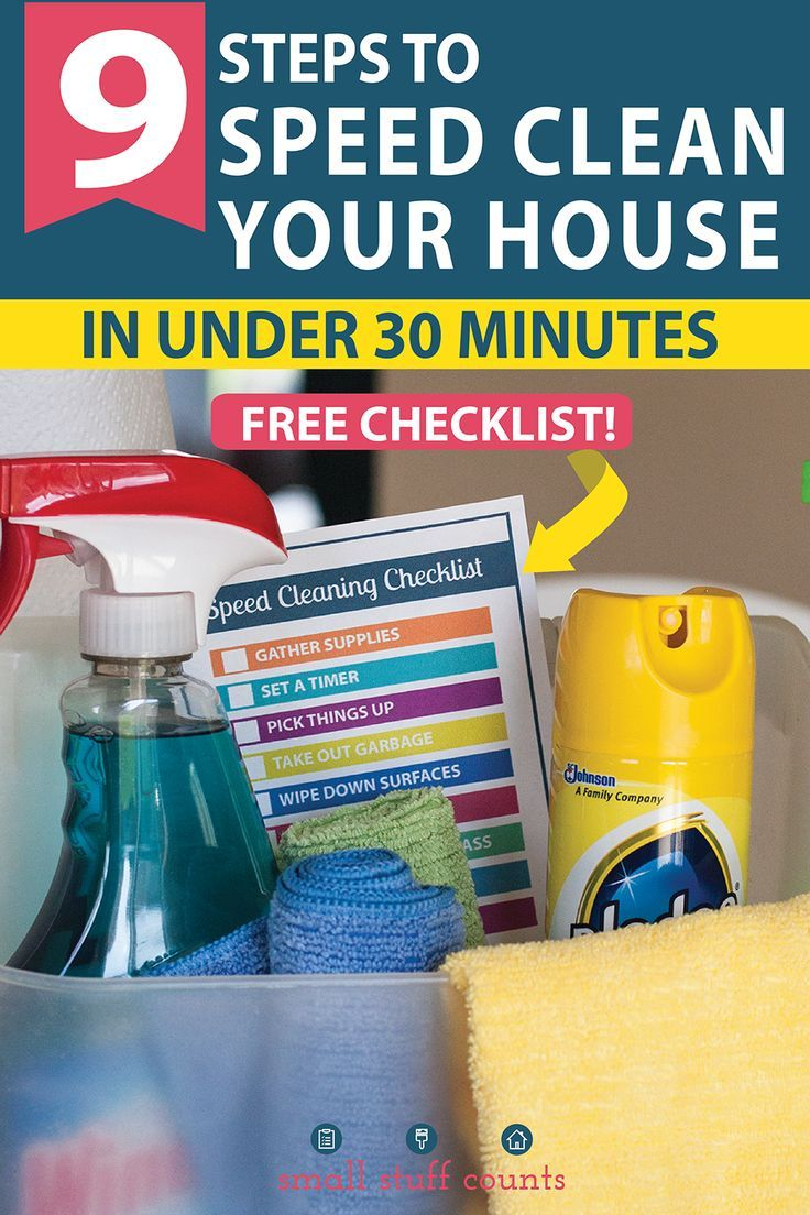 Speed Cleaning Tips For Cleaning Your Entire House In Less Than 30 Minutes Speed Cleaning Cleaning Cleaning Hacks