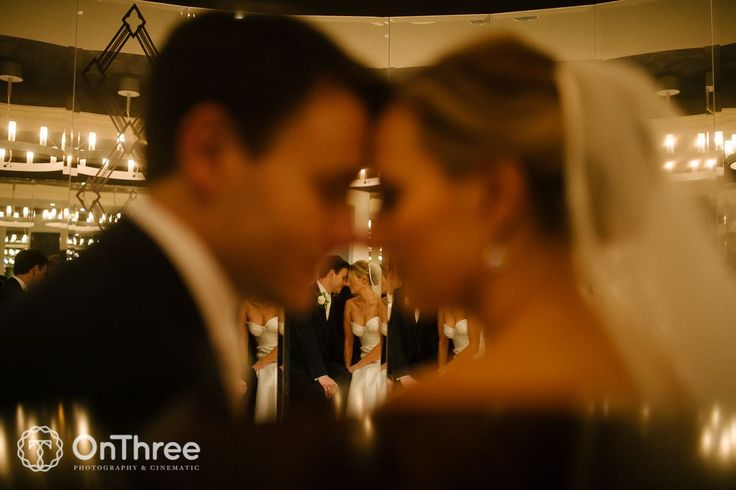 Bride & Groom Mirror Image - Royce Hotel Melbourne Weddings
