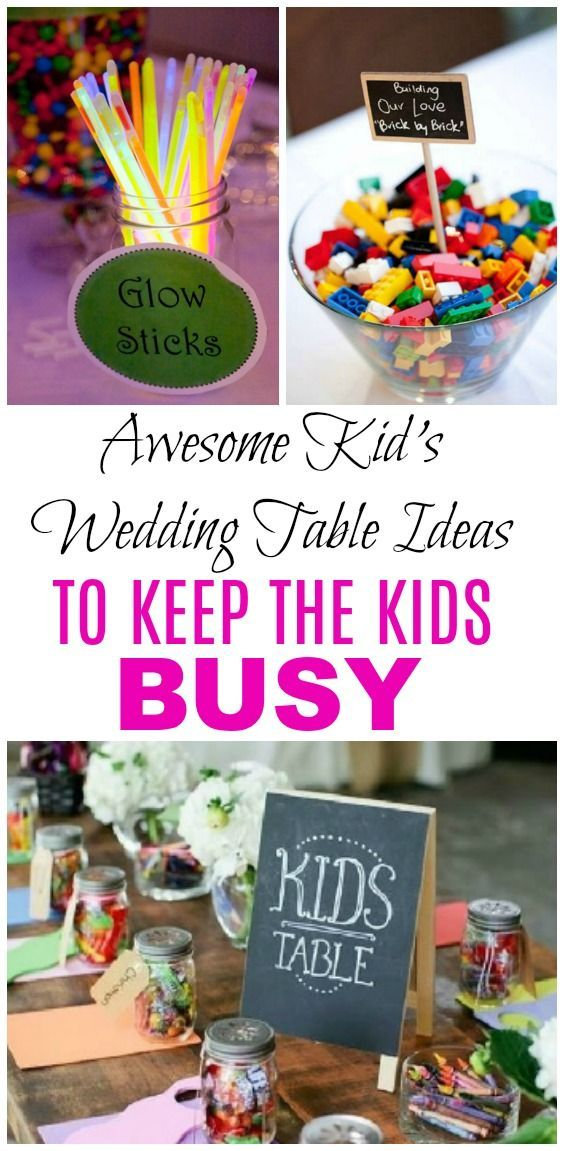10 Kid's Table Wedding Ideas the Kids and Adults Will Love