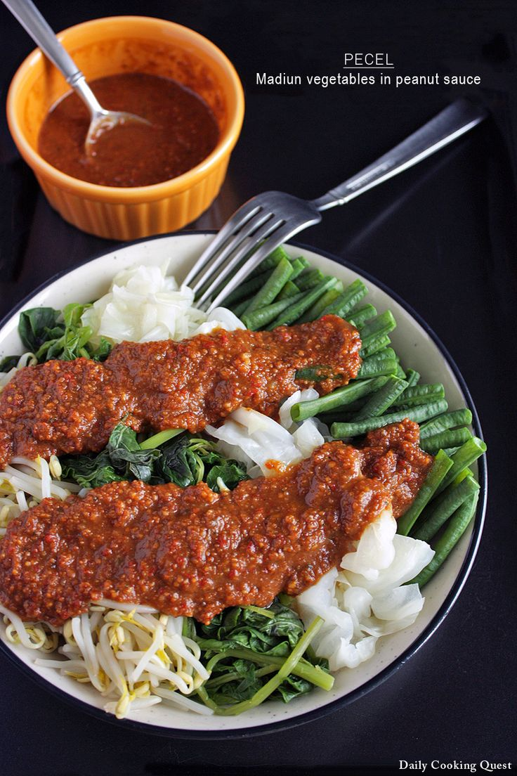 Pecel – Madiun Vegetables in Peanut Sauce