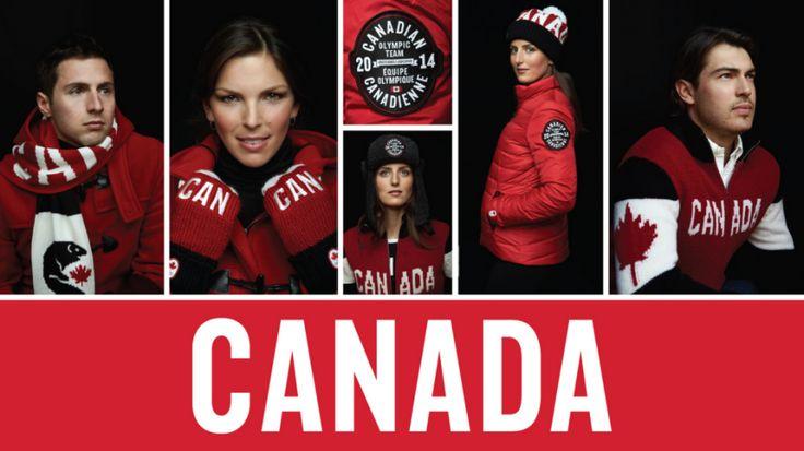 Canadian #Olympic Team Uniforms 2014 - GO CANADA!