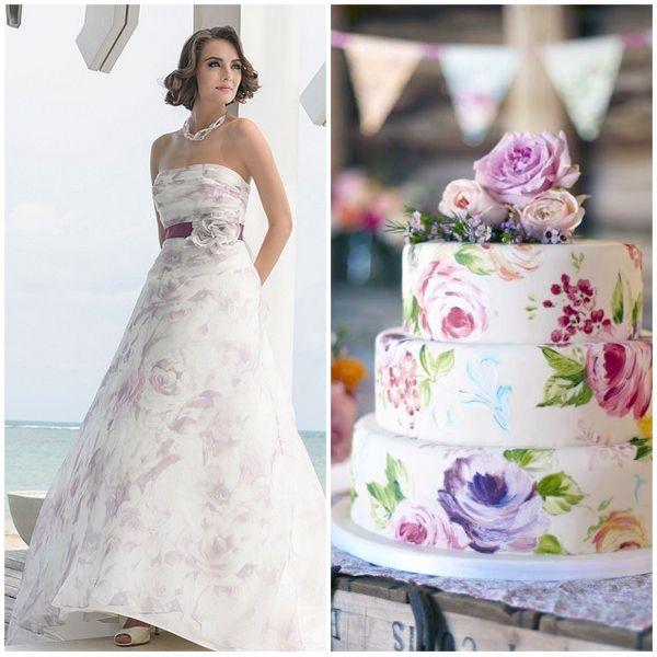 Marylise trouwjurk met bruidstaart combinatie van www.honeymoonshop.nl
