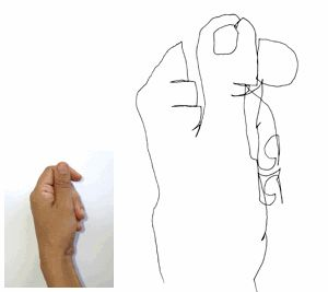 Developing good hand-eye coordination is key when learning to draw. With regular practice, blind contour drawing exercises will help train your hand to follow your eye's movements.