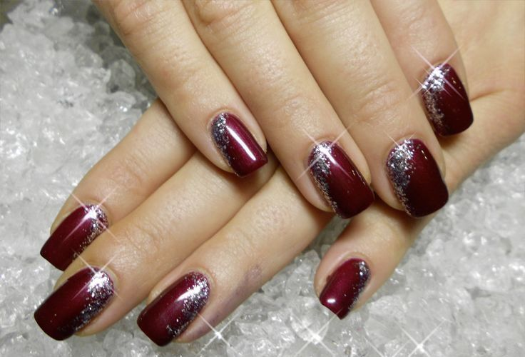 30 Burgundy And Silver Nail Designs New Years Nail Art Burgundy Nails New Year S Nails